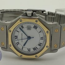 Cartier Octagon 18k Gold Steel Big Size automatic