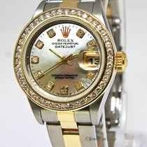 Rolex Datejust 18k Yellow Gold Stainless Steel MOP Diamond...