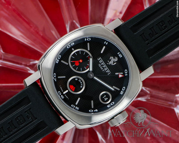 Panerai Ferrari FER012 - 8 Days Power Reserve GMT - 45mm Stainless Steel - Manifattura In-House 8 days Manual Wind Movement - Brand new In Box & Better Than 50% Discount