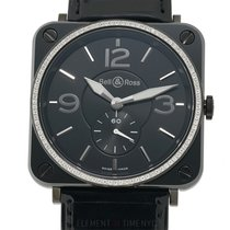 Bell & Ross Aviation Quartz Diamond Bezel Ceramic 39mm...