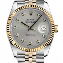 Rolex New Style Datejust Two Tone Fluted Bezel  & Silver...