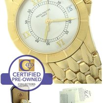 Patek Philippe Neptune 18K Yellow Gold 36mm Silver Date...