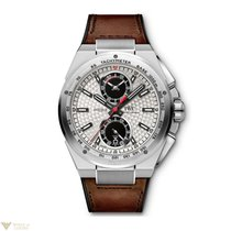 IWC Ingenieur Chronograph Silberpfeil Silver Dial Leather...