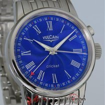Vulcain Classic 1951 Blue Enamel Cricket Alarm 100102.008 Box...