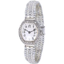 Waltham Dress 1554 Vintage Ladies Watch in Platinum