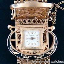 Hamilton Vintage Ladies 14k Yellow Gold Bracelet Hidden Watch...