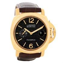 Panerai Luminor Marina 44mm 18k Yellow Gold Watch Pam140 Pam00140