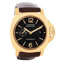 Panerai Luminor Marina 44mm 18k Yellow Gold Watch Pam140 Pam00140