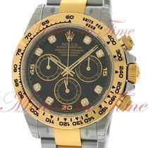 Rolex Cosmograph Daytona, Black Diamond Dial - Yellow Gold...