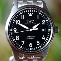 IWC Pilot Mark XVIII Automatic Stainless Steel Black Dial Date...