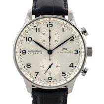 IWC Portoghese Cronografo In Acciaio Ref. Iw371446