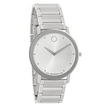 Movado Sapphire Mens Stainless Steel Swiss Quartz Watch 0606881