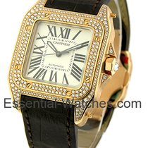 Cartier WM502151 Santos 100 - Small Size - Rose Gold with...