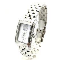 Longines Ss Ladies Watch W/ Diamond Bezel & Dial In Box