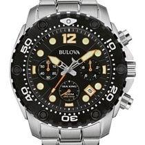 Bulova Mens Sea King UHF Chrono Pro Dive Watch - Black Dial -...