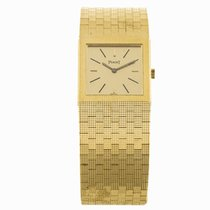 Piaget 18k Yellow Gold Square Manual Wind Watch (Pre-Owned)