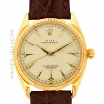 Rolex 18k rose gold vintage 1950's Oyster Perpetual...