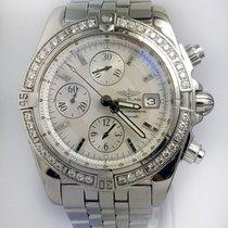 breitling chronomat evolution a13356 diamond bezel