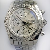 Breitling Chronomat Evolution MOP Dial  Factory Diamond Bezel...