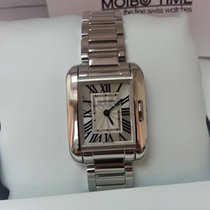 Cartier W5310023 Tank Anglaise 18K White Gold Small Size [NEW]