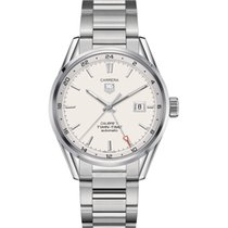 TAG Heuer Calibre 7 Twin Time Automatic Steel Watch war2011.ba...