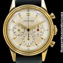 Movado Vintage Chronograph 14k Ref 49038 Unpolished 1940s...
