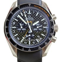 Omega Speedmaster HB-SIA 44mm Black Titanium GMT Co-Axial...