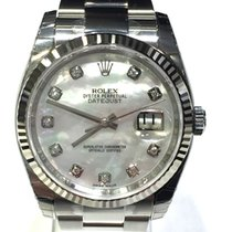 Rolex Datejust White Mother Of The Pearl Diamond Dial