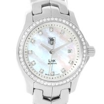 TAG Heuer Link Mother Of Pearl Diamond Ladies Watch Wjf1319.ba...