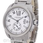 Cartier Calibre Silver Dial Stainless Steel Automatic Mens Watch