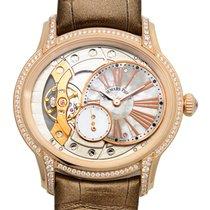Audemars Piguet New  Millenary 18k Pink Gold Diamond Silver...