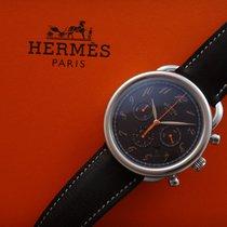 Hermès Arceau Chronograph 43mm With 2 Diamonds