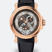 Breguet Marine 18K Rose Gold Dual Time (GMT)  Mens Watch