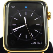 Apple Watch 18K Yellow Gold Case with Black Classic Buckle