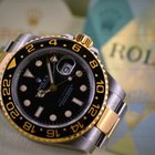 Rolex GMT Master II SS / 18K Yellow Gold Black Dial