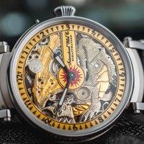 "IWC Marriage watch skeletonized ""Dragon"" steel c.1909"