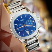 Piaget Polo S Chronograph 42mm Blue Dial  Steel Watch