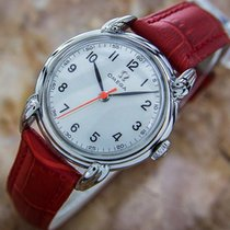 Omega Rare 1940s Calibre R17.8sc Manual Ss Vintage Watch Eb138
