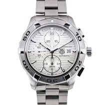 TAG Heuer Aquaracer Chronograph Stahl Weiss