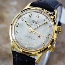 Vulcain Mens Rare Alarm 1970s Gold Plated Swiss Made Vintage...