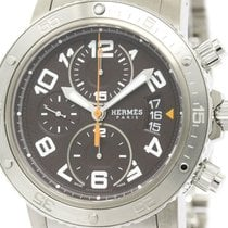 Hermès Polished Hermes Clipper Diver Chronograph Automatic...