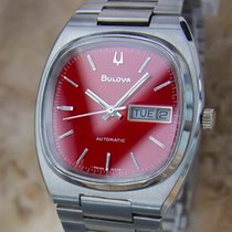 Bulova Swiss Made 1970s Mens 36mm Day Date Automatic Stainless...