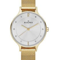 Skagen Womens Anita Watch - Gold-Tone - Mesh Bracelet