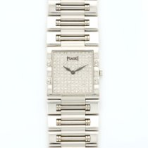 Piaget White Gold Dancer Pave Diamond Watch