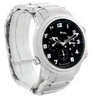Blancpain Leman Gmt Alarm Mens Stainless Steel Watch 2041-1130...