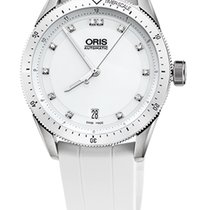 Oris Artix GT Date, Diamonds, Ceramic Top, White, Rubber