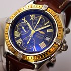 Breitling Crosswind Chronograph 18K Gold Bezel Crocodile Strap