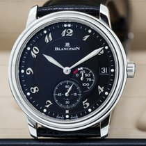 Blancpain 1106-1130-55 Power Reserve Ultra Slim SS Black Dial...