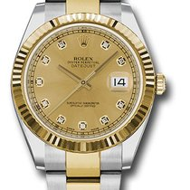 Rolex Datejust 41 Steel and Yellow Gold - Fluted Bezel -...