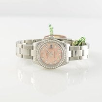 Rolex Datejust 179384 Diamonds Pink Gold Crystal Dial